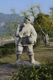 Wuyishan old farmer statue Stock Photo