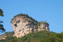 Wuyishan scenery. A great stone Fujian Wuyi Mountain Stock Photography