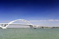 Wuyuan bridge of xiamen. Wuyuanwan bay cross sea bridge, xiamen city, china. wuyuan bridge length 810 meters, 34.9 meters wide. the main bridge is the steel Stock Photo