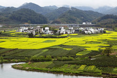Wuyuan, china: rural landscape Royalty Free Stock Images