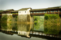 Wuyuan county, famous traditional chinese bridge Stock Photo