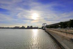 Wuyuan mosta zmierzch Fotografia Royalty Free
