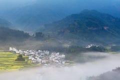 Wuyuan mountain village full of spring stock photos
