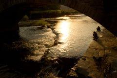 Wuyuan solnedgång Arkivbild