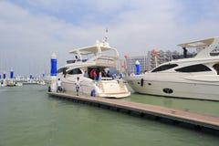 Wuyuanwan海湾游艇口岸 库存图片