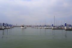 Wuyuanwan海湾游艇码头 免版税图库摄影