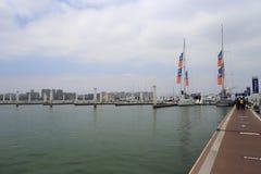 Wuyuanwan游艇码头 免版税库存照片