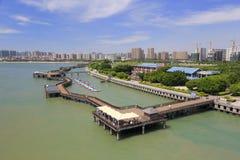 The wuyuanwan bay park of amoy. Beautiful wuyuan bay park of amoy city, china Royalty Free Stock Image