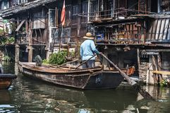 Wuzhen. Ancient water town of Wuzhen, China Royalty Free Stock Photos