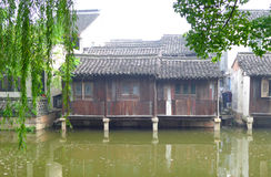 Wuzhen ancient town houses Royalty Free Stock Image