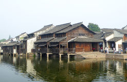 Wuzhen ancient town houses Stock Images