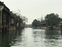 Wuzhen of China. Wuzhen, , an ancient water town in Zhejiang, lies at the riverside of Beijing-Hangzhou Grand Canal. Cause there are graceful scenery, unique royalty free stock photo