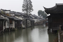 Wuzhen black and white give priority to color of the old house Royalty Free Stock Photos