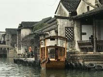 Wuzhen of China. Wuzhen, , an ancient water town in Zhejiang, lies at the riverside of Beijing-Hangzhou Grand Canal. Cause there are graceful scenery, unique stock photography