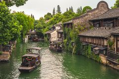 Landscape of wuzhen, a historic scenic town stock images