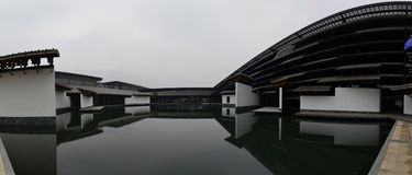 Wuzhen Internet International Convention and Exhibition Center. The Wuzhen Internet International Conference and Exhibition Center is located in Wuzhen township Royalty Free Stock Photos