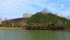 Wuzhen Internetowa konferencja międzynarodowa & Powystawowy centrum pod niebieskim niebem zdjęcia stock