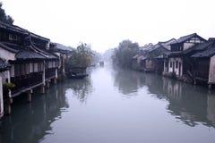 Wuzhen kanaler Arkivbild