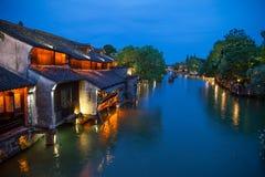 Wuzhen, la ciudad antigua más famosa de China foto de archivo