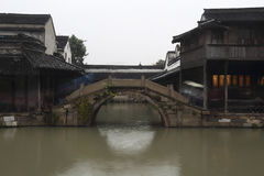 Wuzhen in the rain Royalty Free Stock Images