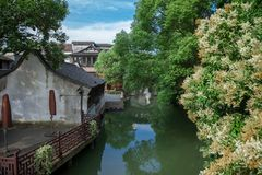 Wuzhen sławny antyczny miasteczko w Chiny Obraz Stock