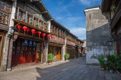 Wuzhen sławny antyczny miasteczko w Chiny Zdjęcia Royalty Free