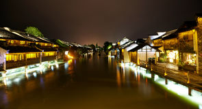 Wuzhen Town At Night Stock Photo