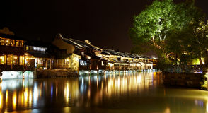 Wuzhen Town At Night Royalty Free Stock Image