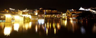 Wuzhen Town At Night Royalty Free Stock Photos