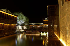 Wuzhen Town At Night Stock Images