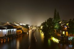 Wuzhen Town At Night 3 Royalty Free Stock Photos