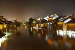 Wuzhen Town At Night 5 Stock Image