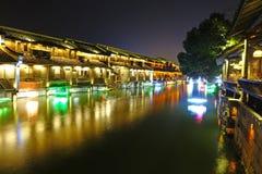 Wuzhen västra scenisk zon Arkivbilder