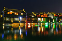 Wuzhen västra scenisk zon Arkivfoton