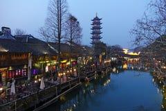 Wuzhen västra scenisk zon Royaltyfri Bild