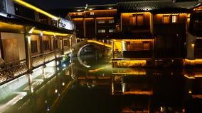 Wuzhen vattenby Arkivfoto