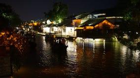 Wuzhen vattenby Fotografering för Bildbyråer