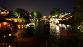 Wuzhen vattenby Arkivbild