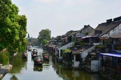 WuZhen vattenstad Arkivbilder