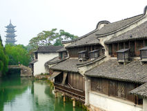 Wuzhen The White Lotus Temple Tower Stock Photography
