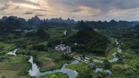 Wuzhi Hill. 4K Timelapse Wuzhi Hill, Yangshuo, China stock video footage