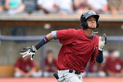 WV Black Bears Baseball - first season. MORGANTOWN, WV - JUNE 21: Mahoning Valley Scrappers second baseman Willi Castro (2) hustles to first during a NY-Penn stock image