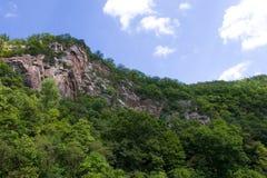 WV Mountain Ridge. This is part of the Applachian Mountains, also known as the Blue Ridge Mountains, located near Seneca Rocks, WV stock photography