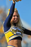 WVU cheerleader Royalty Free Stock Image