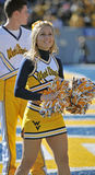 WVU cheerleader Stock Photography