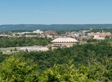 WVU Coliseum Arena in Morgantown royalty free stock photo