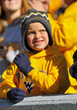 WVU fan in the stands Royalty Free Stock Photos