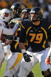 WVU lineman - american college football Stock Photo
