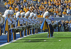 WVU Pride of West Virginia marching band Royalty Free Stock Image