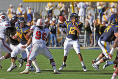 WVU quarterback Geno Smith - pass Royalty Free Stock Image